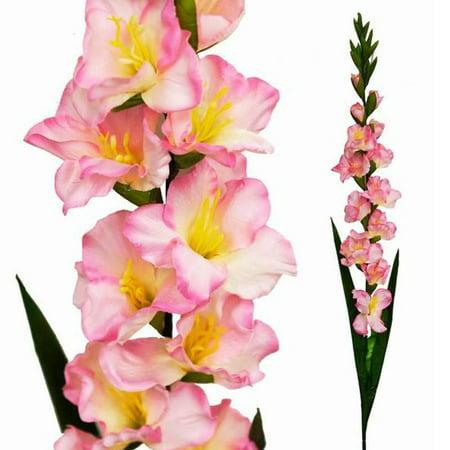 BalsaCircle 6 Gladiolus Single Stems - Artificial Silk Flowers DIY Home Wedding Party Bouquets Arrangements Centerpieces (Gladiolus Arrangement)