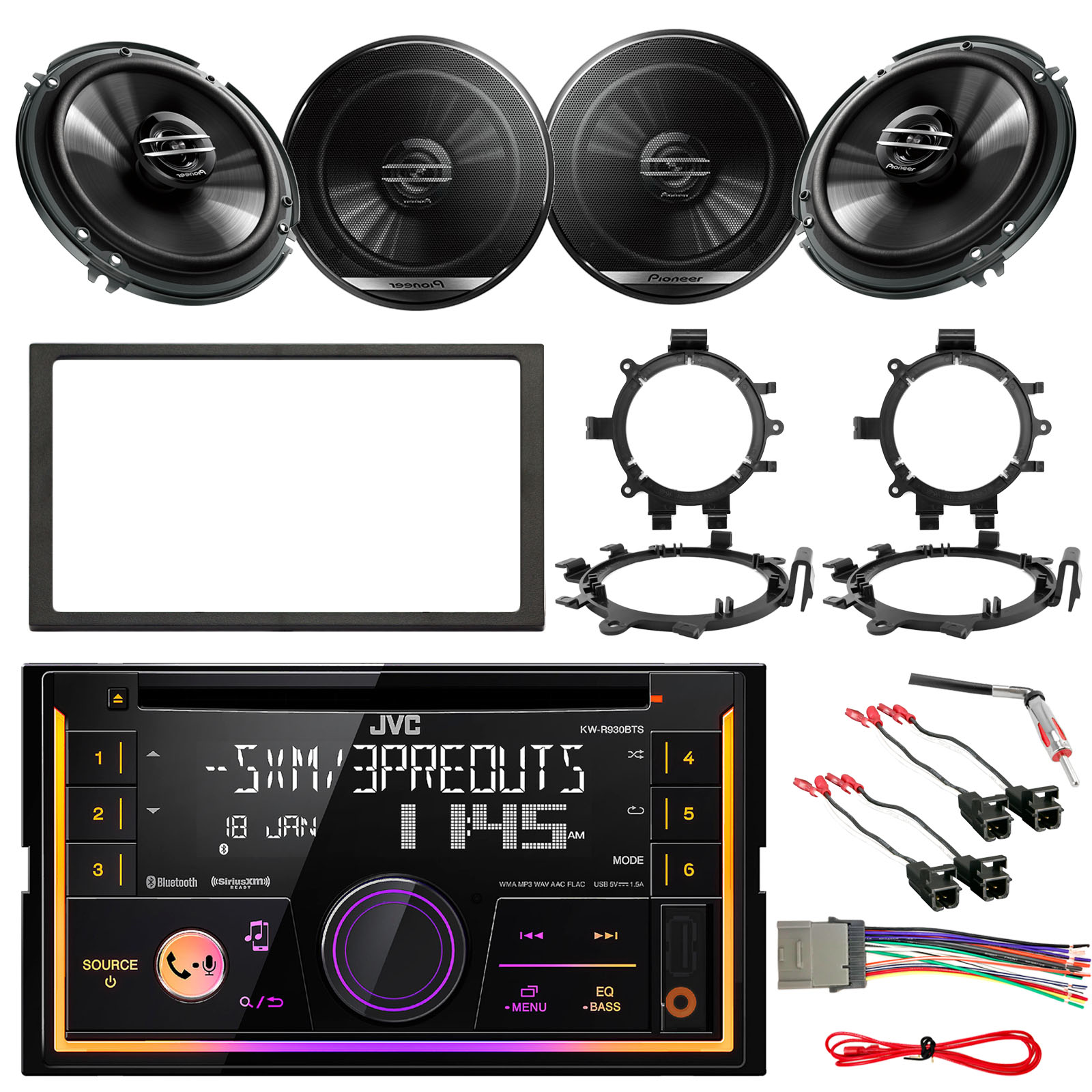 jvc kw r930bts double din bluetooth car cd player stereo