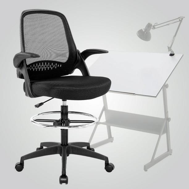 Ergonomic Mid Back Mesh Drafting Chair Walmart Com Walmart Com