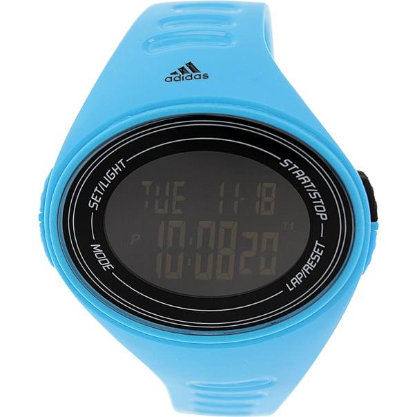 Adidas ADP6128 Cerulean Blue Silicone Bracelet with 50mm Digital Watch NIB by Adidas