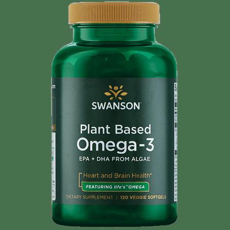 Plant Based Omega 3 - Swanson Plant Based Omega-3 - Featuring life's Omega 300 mg 120 Veg Sgels