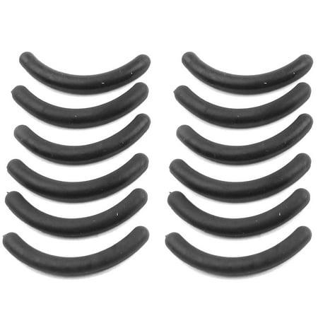 Eyelash Curler Replacement Pads (12 Pcs Rubber Eyelash Curler Refill Cushion Pad Replacement Black )