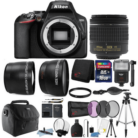 Nikon D3500 24.2MP Digital SLR Camera with Nikon AF-P DX 18-55mm Lens + Best Accessory (Best Nikon F3 Focusing Screen)