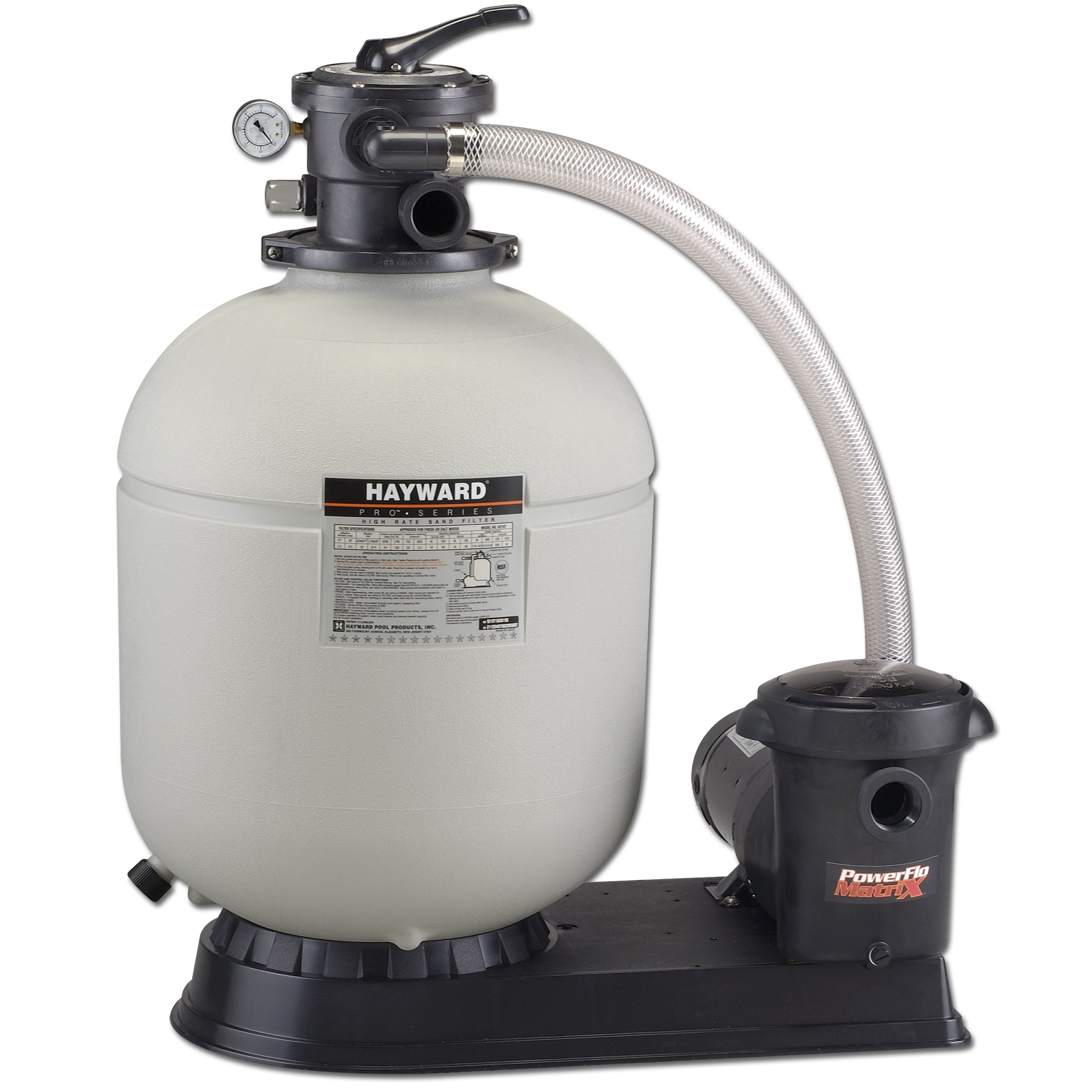 Hayward Pro Series 18 Inch Above Ground Pool Sand Filter System with Pump