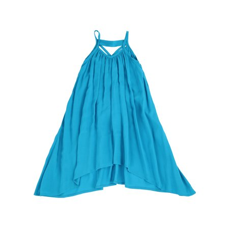 Light Cotton Asymmetric Swing Away Dress for Toddlers and Girls (Ocean Blue, 2T)](2t Birthday Dress)