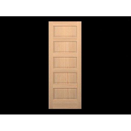 Karona door wood 5 panel slab interior door for 6 horizontal panel doors