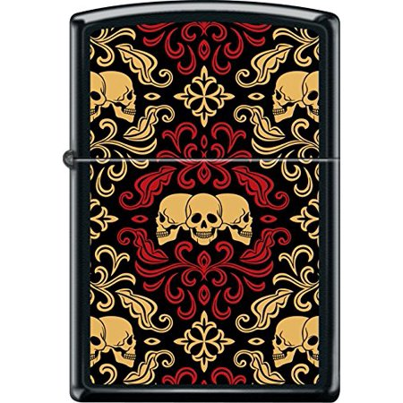 Skull Black Matte Lighter - ZIPPO Black Matte Skulls Ornament Windproof Lighter