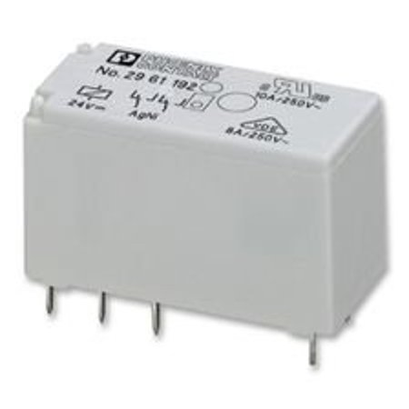 PHOENIX CONTACT 2961192 RELAY, POWER, DPDT, 24VDC, 8A, SOCKET (10 pieces)