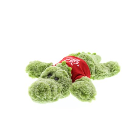 Super Soft Plush Dollibu Small Green Alligator Red I Love You Shirt Valentines (Green Small Animal)