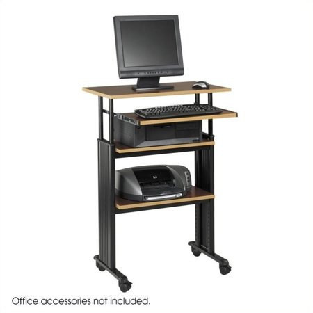 Kingfisher Lane Stand-Up Adjustable Height Workstation in Cherry ()