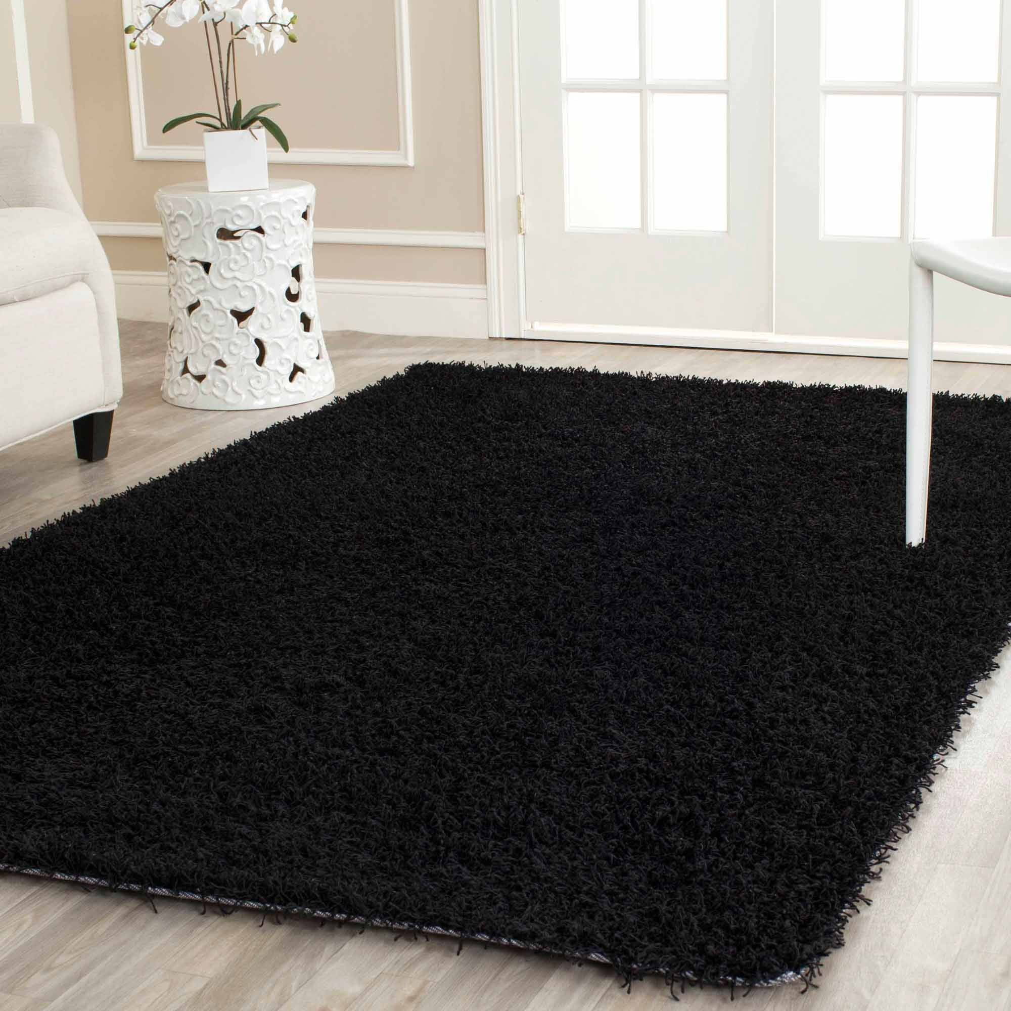 Design Black Rug mainstays manchester shag area rug or runner walmart com