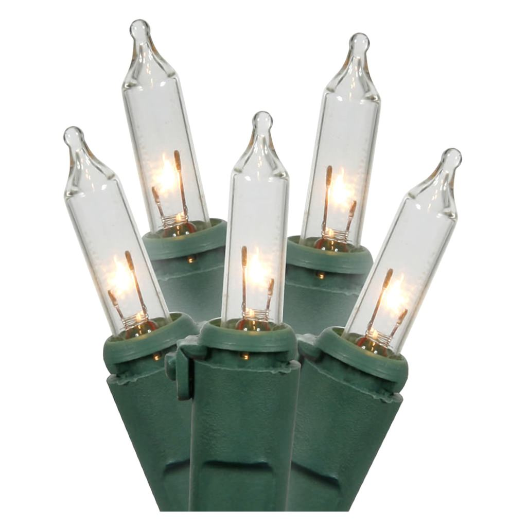 Gerson 60016 - 15 Light Green Wire Clear Miniature Christmas Light String Set