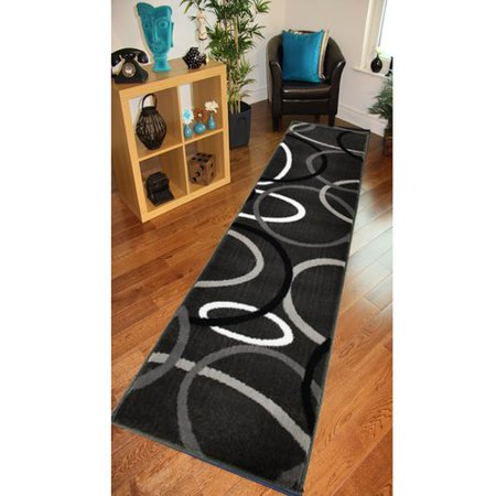 Lr Resources Adana Rings Charcoal Area Rug Walmart Com