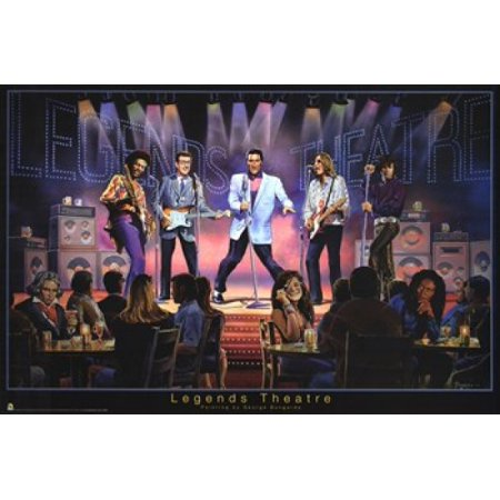 Legends Theatre Poster Print By George Bungarda  36 X 24