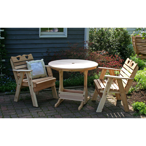 Creekvine Designs Cedar Country Hearts Bistro Set