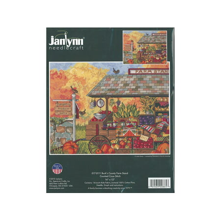 Janlynn Cross Stitch Kit Buck's Country Farm Stand ()