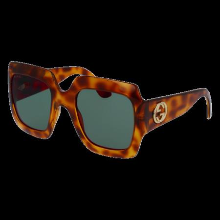 Gucci GG0053S Sunglass 54mm AVANA