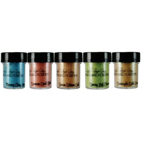 Lindy's Stamp Gang 2-Tone Embossing Powders .5oz 5/Pkg-Mermaid Seashells ()