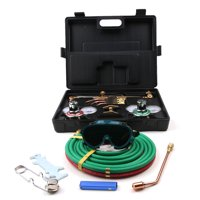 "Zimtown Welding & Cutting Torch Kit, Include Oxygen & Acetylene Pressure Regulator, No.0, 2, 4 Welding Nozzles, heating Tip, Goggles, Spark Lighter, Case, & 15' x 1/4"" Twin Color Hose"