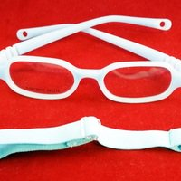 3e4aae8d5d6 EnzoDate Baby Girls   Boys Optical Glasses Size 39 15 with Strap No Screw