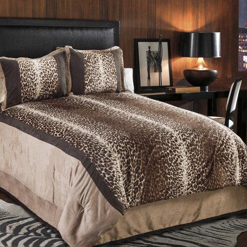 Veratex, Inc. Kimba Leopard 4 Piece Comforter Set