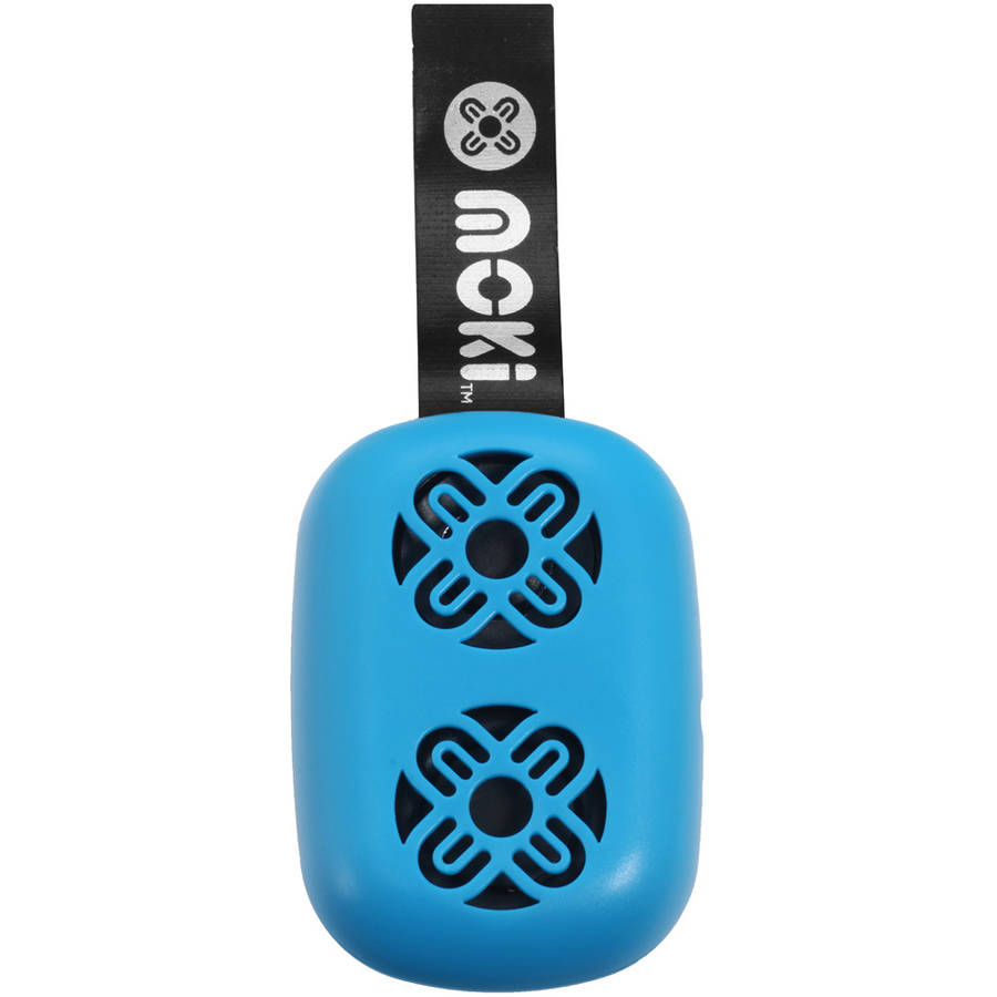 Moki BassPop ACC BPOPBL Ultracompact Bluetooth Wireless Pocket Speaker, Fluro Blue