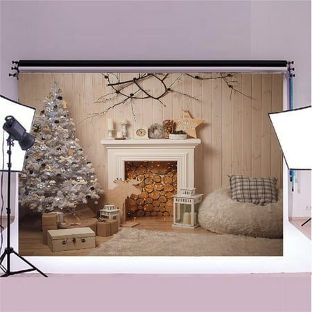 GreenDecor Polyster 7x5ft Merry Christmas Theme Backdrops, Photography Background Photo Studio Photograph Props Best for Christmas Decoration or Children, Newborn,