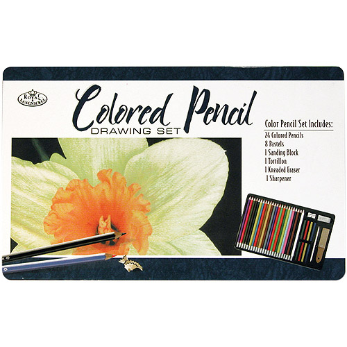 Colored Pencil Drawing Tin-36 Pieces