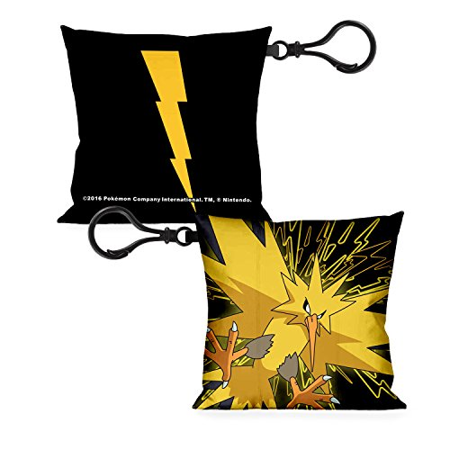 POKEMON Pillow Keychain - Zapdos Legendary Electric Bird Flying - Bird Keychain