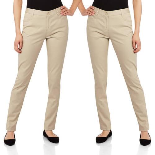 George - Juniors School Uniform Flat Front Skinny Pants 2pk Value Bundle
