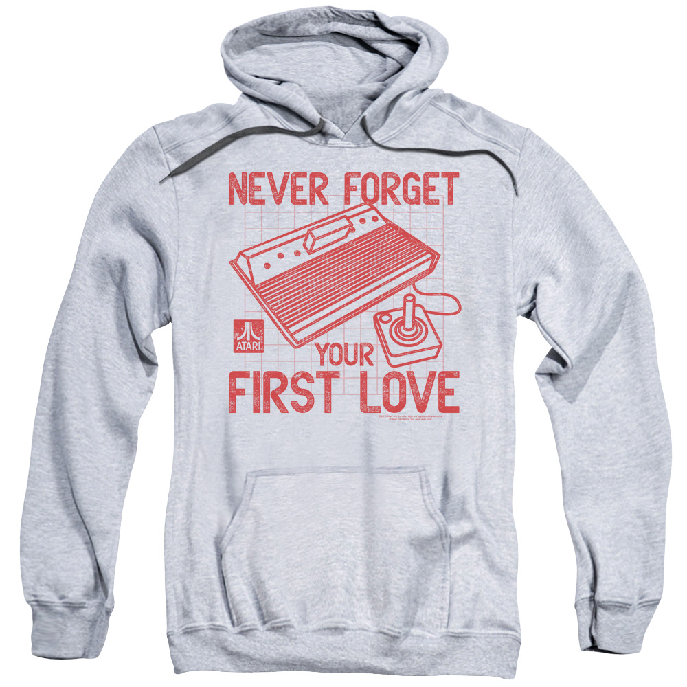 ATARI/FIRST LOVE-ADULT PULL-OVER HOODIE-ATHLETIC HEATHER-3X