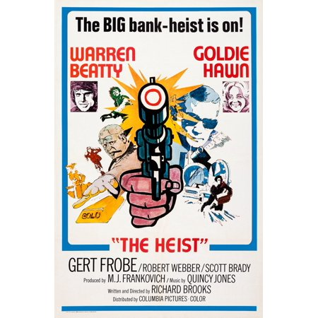 Aka Dollars Aka The Heist  British Poster Art Insets From Left Warren Beatty Goldie Hawn 1971 Canvas Art     11 X 17