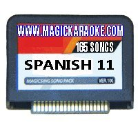 Magic Sing Nuevo Spanish 11 Karaoke Mic Song Chips 165 Songs - Add 165 More Songs To Your Magic Karaoke