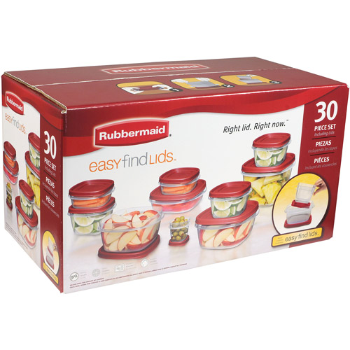 sc 1 st  Walmart & Rubbermaid 30-Piece Easy Find Lid Set - Walmart.com
