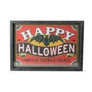 "Red and Black ""HAPPY HALLOWEEN"" Framed Wall Art 11"" x 16"""