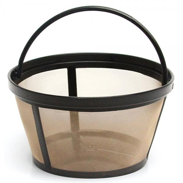 THE ORIGINAL GOLDTONE BRAND Reusable Basket-style 10-12 Cup Coffee Filter with Solid Bottom by Gold Tone Products
