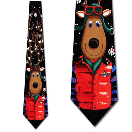 Reindeer Pilot Necktie Mens Tie by Tieguys