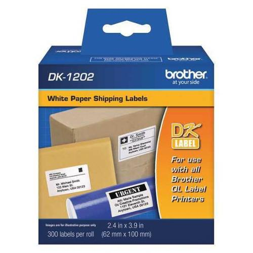 BROTHER DK1202 Shipping Labels,2.4 x 3.9,300/Roll