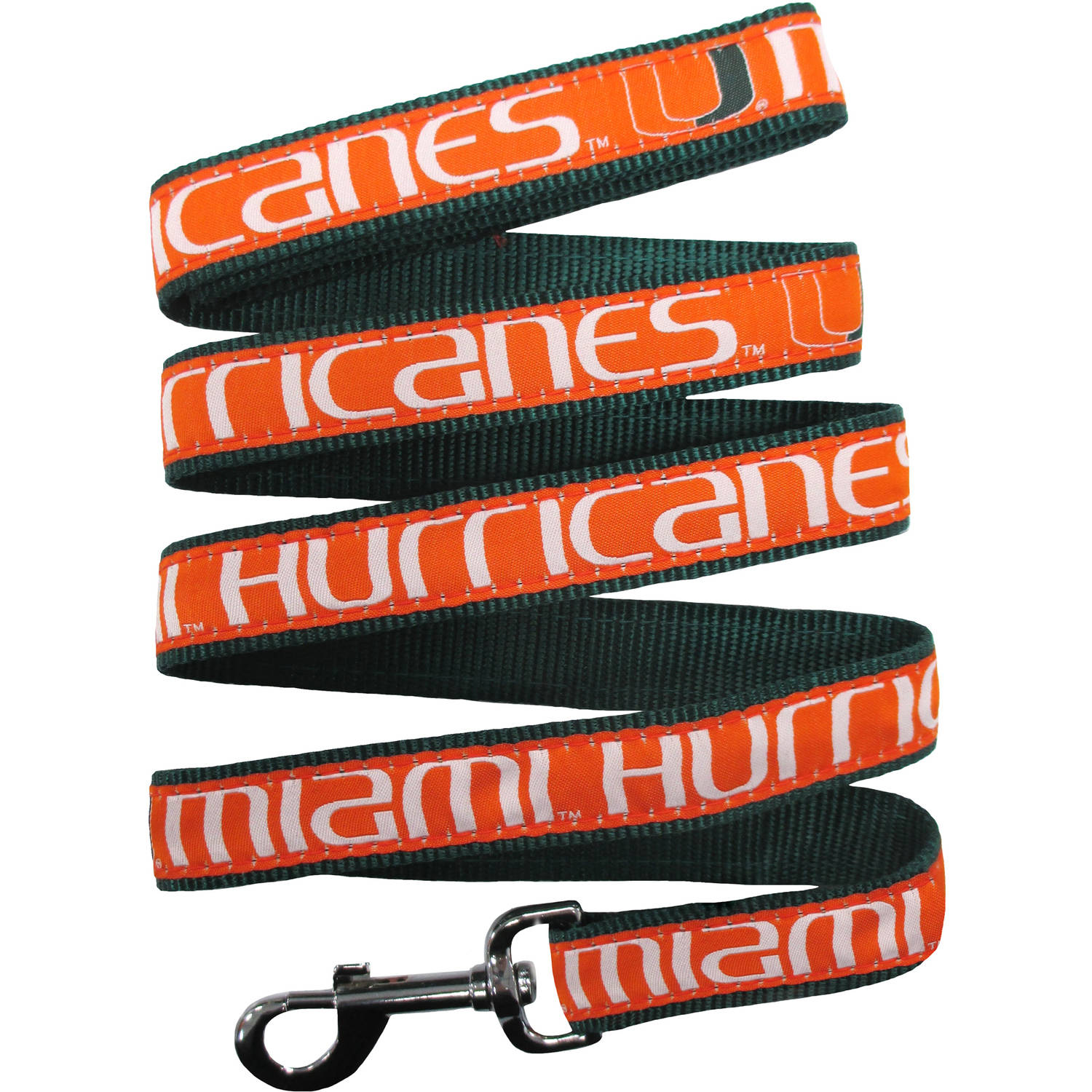Pets First College Miami Hurricanes Pet Leash, Assorted Sizes
