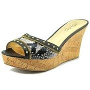 Thalia Sodi Estella Open Toe Synthetic Wedge Sandal