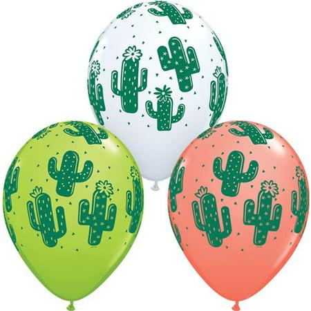 50 Qualatex Cactus Assorted Colors Latex Balloons 11
