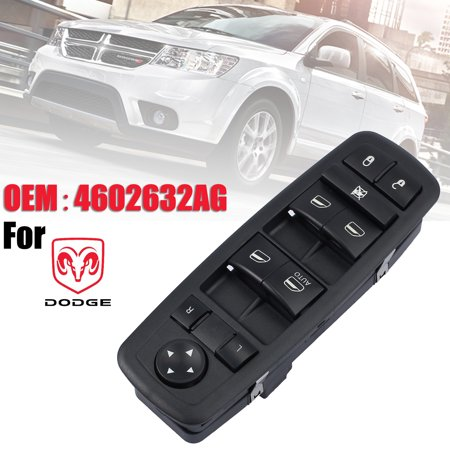 Door Switch (ESYNIC Master Power Door Switch Lock Window Switch Left LH Driver Side for Jeep Liberty Dodge Nitro Journey OEM#4602632AG  4602632AC  4602632AD  4602632AE )