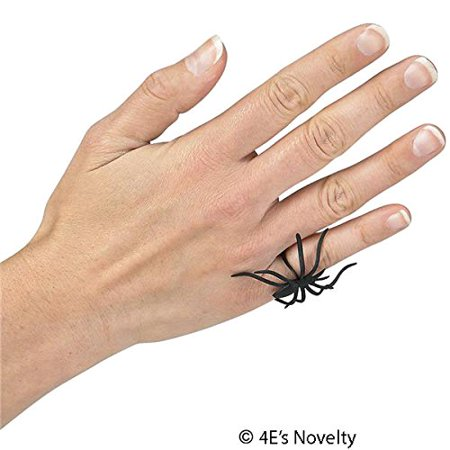 Pack Of 144, Spider Rings Halloween Party Favors Loot Trick-or-treat Giveaway, By 4E's Novelty,