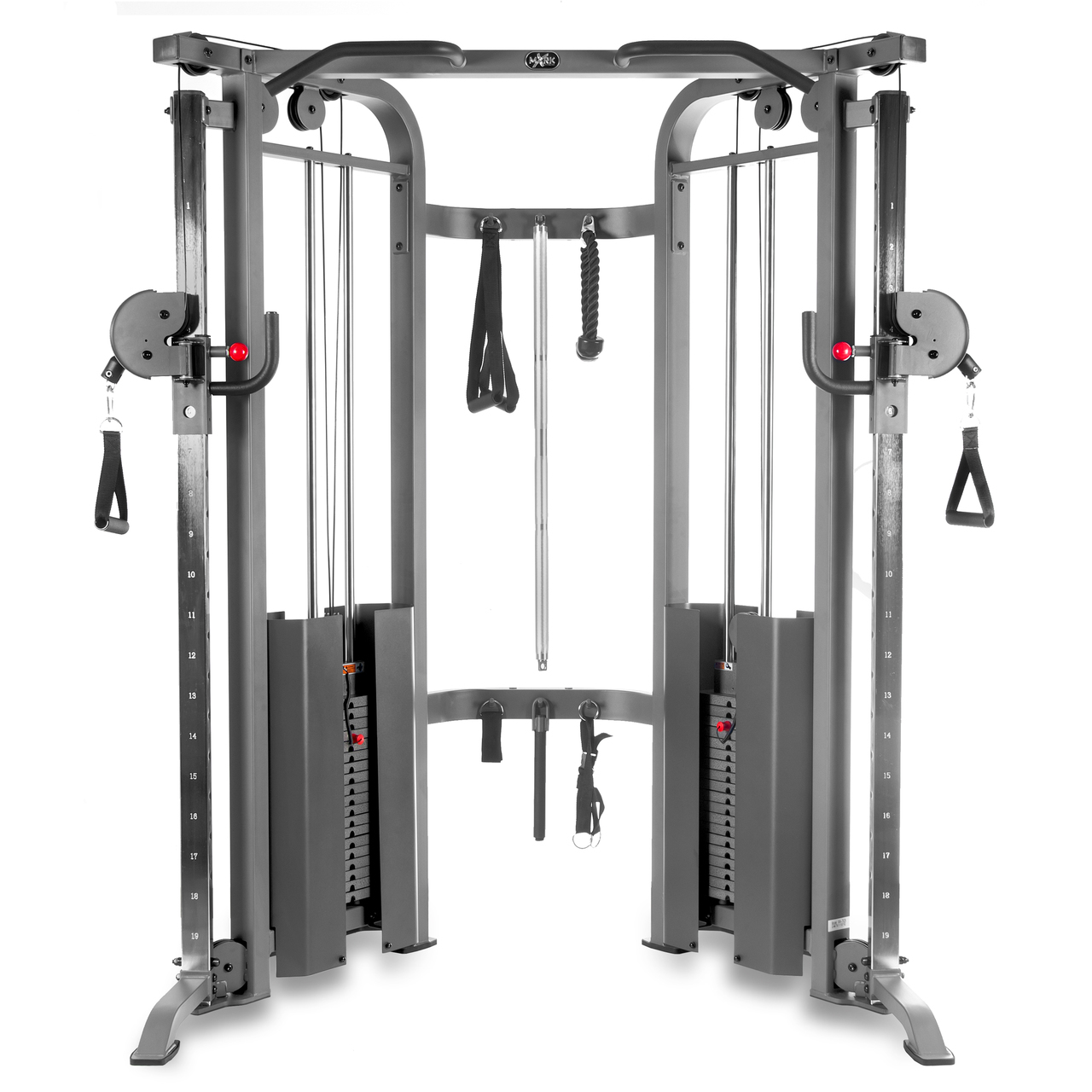 Functional Trainer Cable Machine with Dual 200 lb Weight Stacks XM-7626 by Fitness Solution Group