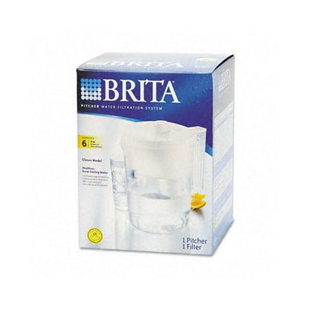 brita classic water filter pitcher 48 oz white. Black Bedroom Furniture Sets. Home Design Ideas