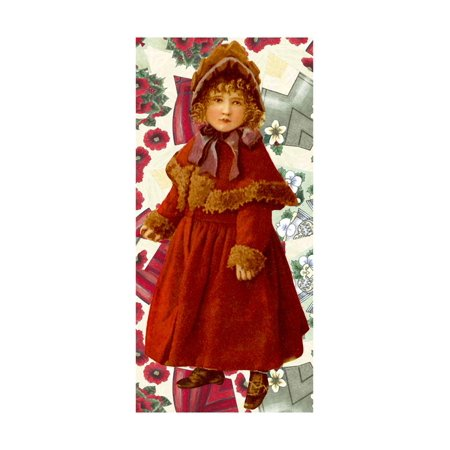 Victorian Girl Christmas Print Wall Art By Vintage Apple Collection Victorian Collection Oil