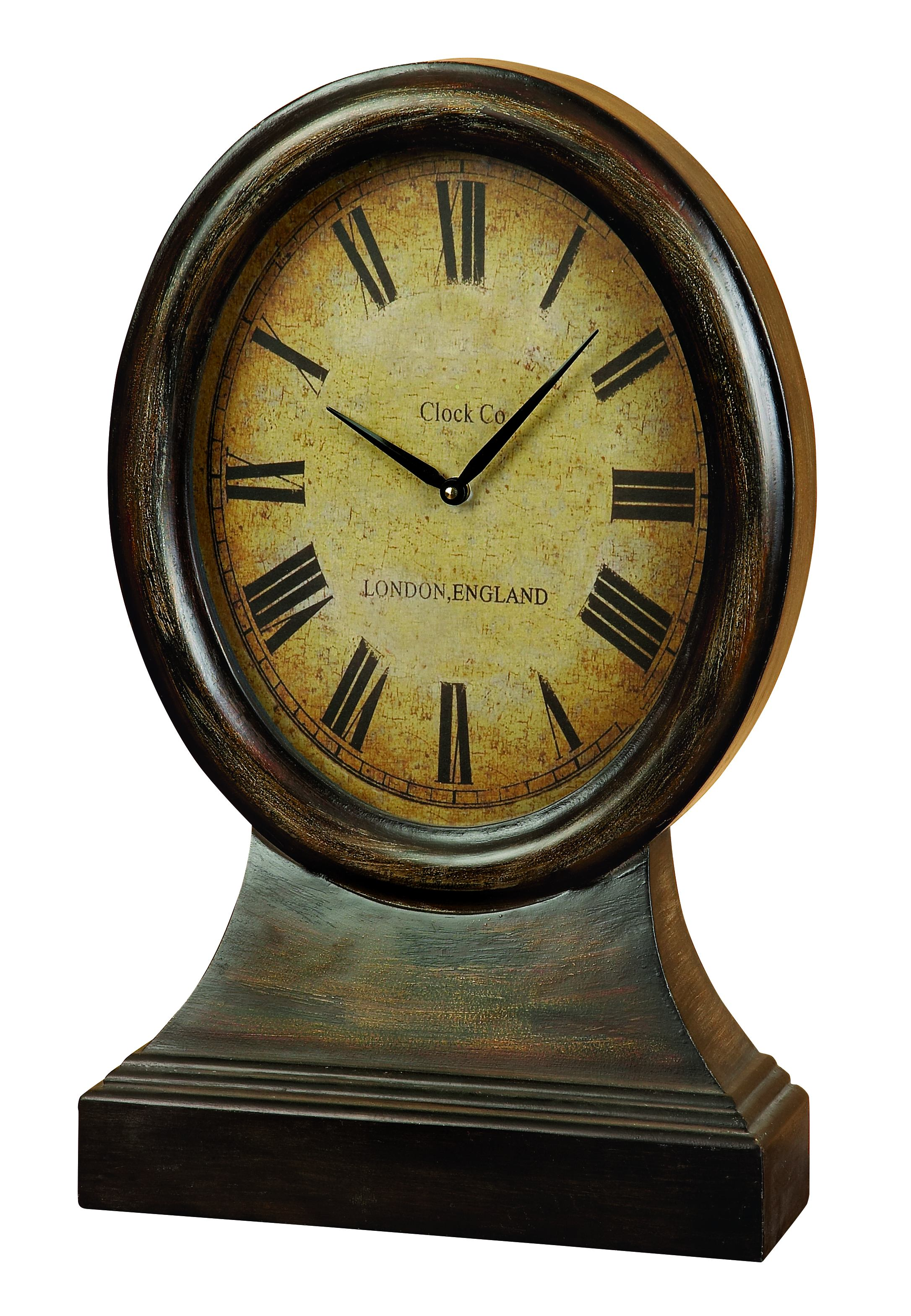 Wood Table Clock Looks Like Coordinating Antique Table Decor by Benzara