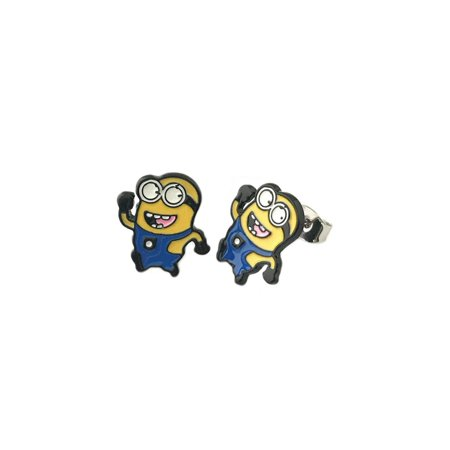 Me & Ro Flowers Earrings (Despicable Me Minions Post Earrings w/Gift Box By Superheroes )