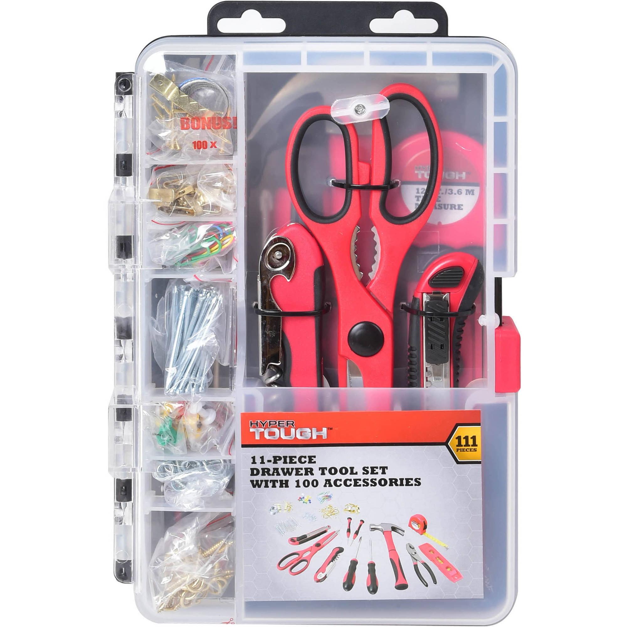 Hyper Tough 11-Piece Drawer Tool Kit with Bonus 100 pcs
