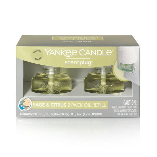 Yankee Candle Sage Citrus Scent Plug Refill 2 Pk Walmart Com Walmart Com
